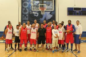 Puerto Rican National Basketball Team 2013 with ALINE's own Jonna Pento